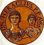 Heraclius (575-641) was son of Heraclius the Elder, exarch of Africa, who led a revolt against the usurper emperor Phocas, deposing him in 610. Heraclius became emperor and was immediately forced to deal with multiple threats on many frontiers.<br/><br/>  One of the main frontiers was the Byzantine-Sassanid War of 602-628 against King Khosrau II and the Sassanid Empire. The Sassanids managed to fight all the way to the walls of Constantinople before failing to penetrate them, allowing Heraclius to counter-attack and drive them all the way back to the capital of Ctesiphon. Khosrau was executed by his son Kavadh II, and a peace treaty was agreed to. The Sassanid Empire soon fell to the Muslim conquests, another threat Heraclius had to deal with.<br/><br/>  Heraclius was credited for making Greek the Byzantine Empire's official language, as well as for his enlarging of the empire and his reorganisation of government and military. Though his attempts at religious harmony failed, he was successful in returning the True Cross to Jerusalem.