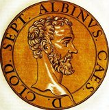 Clodius Albinus (150-197) was born in Africa Province (modern day Tunisia) to an aristocratic Roman family. He joined the army at a young age and served with distinction under Emperors Marcus Aurelius and Commodus. After the assassination of Emperor Pertinax and the auctioning of the imperial throne to senator Didius Julianus in 193, Albinus was proclaimed emperor by the armies in Britain and Gaul.<br/><br/>  In the civil war that followed, which would be known as the Year of the Five Emperors, Albinus initially allied himself with fellow claimant Septimius Severus, who had captured Rome, with the two sharing a consulship in 194 and Severus giving the title of Caesar to Albinus. By the the year 196, Severus had already removed the other emperors, and turned his eye on Albinus, wishing to be undisputed master of the Roman Empire.<br/><br/>  Albinus formally proclaimed himself emperor in 196, and went on the offensive. On 19 February 197, the armies of the two emperors clashed at the Battle of Lugdunum. Though it was hard-fought, Albinus was defeated and either killed himself or was executed on Severus' orders. In a final act of humiliation, Severus had Albinus' body laid out on the ground so that he could ride his horse over it.