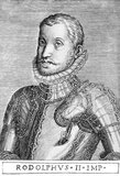 Rudolf II (1552-1612) was the eldest son and successor of Emperor Maximilian II, and spent eight formative years in the Spanish court of his maternal uncle Philip II, adopting a stiff and aloof manner typical of the more conservative Spanish nobility. He remained reserved and secretive for the rest of his life, less inclined to daily affairs of state and more interested in occult studies such as alchemy and astrology.<br/><br/>  Rudolf became King of Hungary and Croatia in 1572, and by the time of his father's death in 1576, had also inherited the Bohemian, German and Holy Roman crowns. Rudolf dangled himself as a marital prize in various diplomatic negotiations, but like his contemporary, Queen Elizabeth I of England, he ultimately never married. Rudolf did have a succession of affairs with various women however, resulting in several illegitimate children. He was also religiously neutral, tolerant to Protestantism and other religions despite being raised in a Catholic court.<br/><br/>  Rudolf's conflict with the Ottoman Empire would be his undoing. He started a long and indecisive war with the Ottomans in 1593 that lasted till 1606 and was known as The Long War. His Hungarian subjects revolted in 1604, tired from the fighting, and he was forced to cede the Hungarian crown to his younger brother, Archduke Matthias. Bohemian Protestants also pressed for greater religious liberty, and when Rudolf attempted to use his army to repress them in 1609, Matthias imprisoned Rudolf and forced him to cede the Bohemian crown as well. Rudolf died in 1612, having been stripped of all effective power aside from the empty title of Holy Roman Emperor.