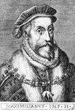 Maximilian II (1527-1576) was the son of Emperor Ferdinand I. He served during the Italian Wars in 1544, as well as the Schmalkadic War. His uncle, Emperor Charles V, made him marry his cousin and Charles' daughter Mary of Spain in 1548, and Maximilian acted temporarily as the emperor's representative in Spain. Questions of succession soon saw trouble brew between the German and Spanish branches of the Habsburg dynasty, and it was suspected that Maximilian was poisoned in 1552 by those in league with his cousin and brother-in-law, Philip II.<br/><br/>  The relationship between Maximilian and his cousin Philip soon became uneasy, with Philip being a Spaniard born and raised, while Maximilian idenitifed himself as the quintessential German prince: outgoing, charismatic and religiously tolerant. He governed the Austrian hereditary lands alongside his father, defending them against Ottoman incursions. He was chosen and crowned as King of Germany in 1562 after assuring the Catholic electors of his faith, and was crowned a year later as King of Hungary. By the time his father died in 1564, Maximilian had inherited the crowns of Croatia, Bohemia and of the Holy Roman emperor.<br/><br/>  Maximilian's rule was marred by the ongoing Ottoman-Habsburg wars as well as deteriorating relations with his Habsburg cousins in the Spanish Empire. By the time of his death in 1576, he had not succeeded in achieving his three major goals: rationalising the governmental structure, unifying Christianity and evicting the Ottomans from Hungary. He refused to receive the last sacraments of the Church while on his deathbed.