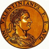 Valentinian III (419-455) was the son of Emperor Constantius III, and nephew of former Emperor Honorius through his mother, Galla Placidia. He was also cousin to Theodosius II, Eastern Roman emperor. When his father died in 421, barely seven months into his co-rule, Valentinian was only two years old, and he fled with his mother and sister to Constantinople from the unwanted attentions of his uncle Honorius.<br/><br/>  When Honorius died in 423 and the usurper Joannes took power, Theodosius recognised Valentinian as the true emperor of the West, and placed him on the throne in 425, aged only six. Due to his age, his mother ruled as regent in his stead, desperately attempting to stablise the Western Roman Empire and negotiating with the Huns. The empire continued to lose more territory however, and internal instability wracked the empire constantly. Valentinian finally became emperor in 437, but true power remained in the hands of others.<br/><br/>  Attila the Hun's invasion of the Western Roman Empire, at the behest of Valentinian's own sister Honoria, devastated much of the western provinces and was only just stopped at the gates of Rome. Valentinian was eventually assassinated in 455 after murdering one of his powerful advisors, Aetius, the year previous. Overall, Valentinian's reign is marked by the continued dismemberment and decline of the Western Roman Empire.