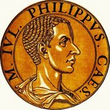 Philip II (238-249), also known as Philippus II and Philip the Younger, was the son and heir to Emperor Philip I, or Philip the Arab. When Philip I became emperor in 244, Philip II was appointed Caesar, and served as consul in 247. His father eventually elevated him to Augustus and co-emperor some time later.<br/><br/>  Philip I was killed in battle with rival claimant Decius in 249, and when news of his death reached Rome the Praetorian Guard murdered Philip II. It was said that he died in his mother's arms, aged only eleven.